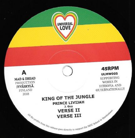 Prince Livijah - King Of The Jungle / Dub / Crafty Counsel / Dub (Universal Love) 12""